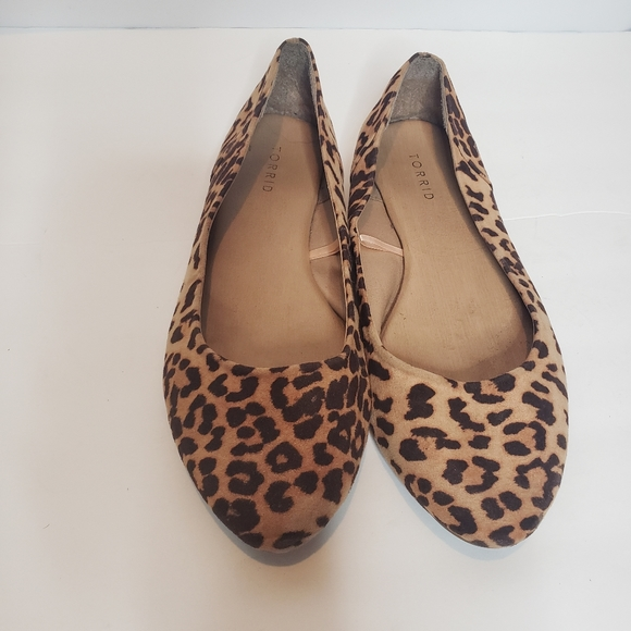 leopard print flats size 11